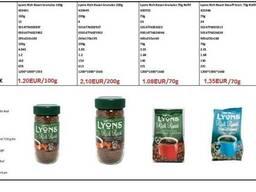 Lyons instant coffee, происхождение Великобритании