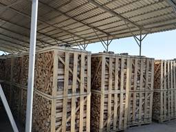 Firewood in boxes (birch, oak, hornbeam, alder)