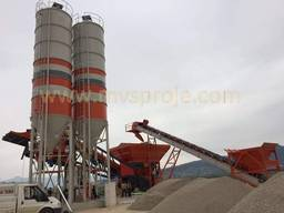 MVS 100M 100m3/hour Mobile Concrete Batching Plant