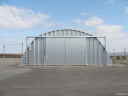 Зернохранилища напольного типа - стальные амбары склады - фото 3